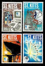 St. KITTS. SKANTEL - Satellite. 1995 Scott 394-397. MNH (BI#1)