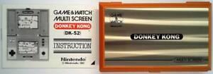 DONKEY KONG MULTISCREEN GAME & WATCH 1982 incl. manual - MINT / TOP - Nintendo