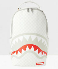 Sprayground Sharks In Paris Mean & Clean White Checkerboard Laptop Backpack Bag