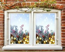 3D Matsuba N536 Christmas Window Film Print Sticker Cling Stained Glass Xmas Fay