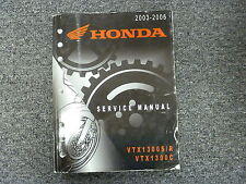 2003 2004 2005 2006 Honda Models VTX1300 S R C Shop Service Repair Manual Book