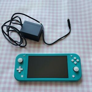 Nintendo Switch Lite Turquoise Handheld Gaming Console euc