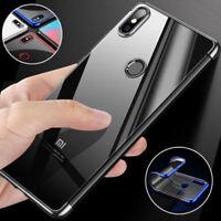 Luxury Hybrid Clear Thin Electroplate Soft TPU Bumper Case Cover For Xiaomi Mi 8
