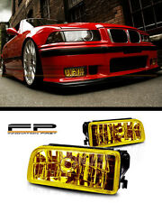 1992-1999 BMW E36 M3 3 Series Fog Light Front Bumper Lamp Yellow Glass Lens PAIR