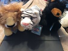 3 Webkinz lot -Lion, Tiger & Bear (oh my) NEW w/ Sealed Codes