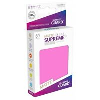 Ultimate Guard Matte Pink Card Deck Protector Sleeves UX Supreme 62 x 89mm 60ct