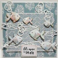 Carbon Steel Fish Die Cutting Stencil For Crafts DIY Scrapbook Album Die Cut /a6