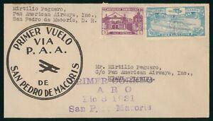 MayfairStamps Dominican Republic 1931 San Pedro De Macoris Pan Am First Flight C