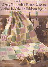 USED 63 EASY TO CROCHET PATTERN STITCHES HEIRLOOM AFGHAN CROCHET PATTERN BOOK