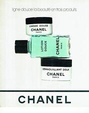 PUBLICITE ADVERTISING 126  1978   les cosmétiques lotion  creme Chanel