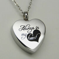 """Always in my Heart""  Cremation Urn Necklace 
