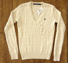 Ralph Lauren Women's V Neck Waist Length Jumpers & Cardigans