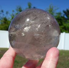 Light Smoky Quartz Crystal Sphere Ball Madagascar GORGEOUS Smokey Stone Awesome
