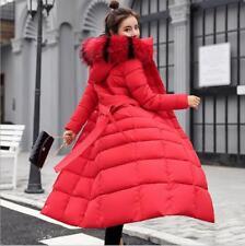 Women WInter Long Parka Jacket Coat Big Fur Collor New Cotton Padded Outwear