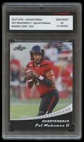 PATRICK MAHOMES II 2017 LEAF LIMITED 1ST GRADED 10 ROOKIE CARD RC KC CHIEFS PAT