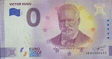 BILLET 0  EURO VICTOR HUGO   FRANCE    2020 NUMERO DIVERS