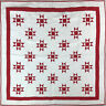 Red & White Traditional Ohio Star FINISHED QUILT - Bold look