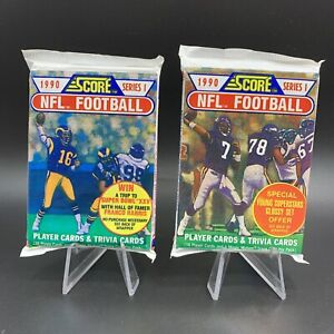 Lot Of (2) - 1990 Score NFL Football Series 1 - Factory Sealed