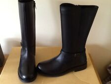 genuine leather girls classic winter/riding boots,blk sizes 3-6,scoop purchase