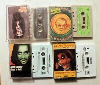 Cassette LOT Alice Cooper: Billion Dollar Babies/Goes to Hell/Constrictor/Trash