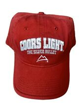 Coors Light Colorado CO Beer Hat Cap VTG The Silver Bullet Red White Baseball