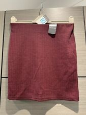 PRIMARK BANDAGE BODYCON DRESS MINI SKIRT RED BLACK PRINT 10 E 38 NEW BNWT