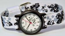 Regent montre bracelet pour enfants noir blanc avec en tissu à 7171.16.30 NEUF