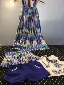 Gymboree Sparkle Safari dress top shorts skirt necklace bracelet 6 7 EUC NWT lot