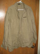 Members Only Jacket Europe Craft 40 Thin Beige Polyester Cotton Rare FREE SHIP