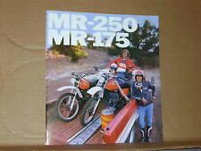 1976 Honda MR250 MR175 Motorcycle Sales Brochure - Literature