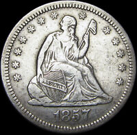 1857-O Seated Liberty Quarter Silver US Coin ----  NICE Type Coin ---- #C628