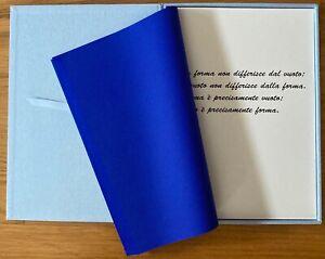 Ettore Spalletti, libro d'artista, Castello di Rivoli 2004