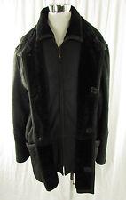 Boecker Man! chaqueta de cuero lammfelljacke, chaqueta Sherling abrigo negro Gr. 56