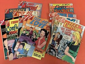 ROMANCE COMIC BOOKS  LOT OF 17  (CHARLTON) 1960'S /1970's - KISS AND TELL !!