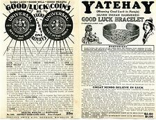 1936 Print Ad Jeffrey Good Luck Coins Indian Yatehay Bracelet Horseshoe Swastika