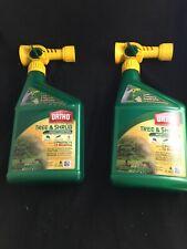 2 BottleS Ortho Max Tree & Shrub Insect Control 32 OZ Scotts Spray w Hose 32oz