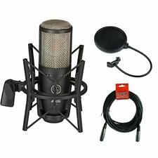 AKG Project Studio P220 Condenser Microphone w/ Pop Filter & XLR Cable