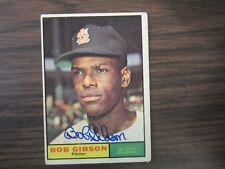 1961 Topps #211 BOB GIBSON autograph / Signed card St Louis Cardinals