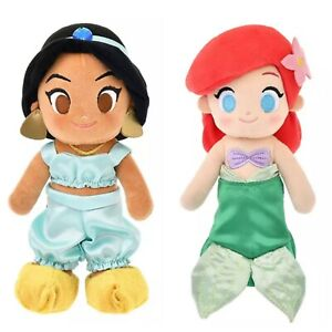 NEW Japan Disney Store Doll Plush nuiMOs Disney Princess Jasmine / Ariel