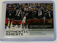 2019-20 SPA AUTHENTIC MOMENTS COLUMBUS BLUE JACKETS 108