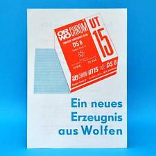 ORWO UT 15 DS 8 von 1974 Werbezettel Werbung DDR Wolfen Bitterfeld C