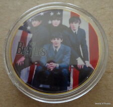 The Beatles USA flag  24KT GOLD MEMORABILIA COLLECTIBLE COIN