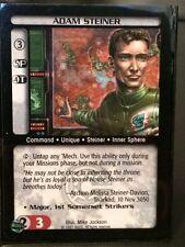 Battletech CCG Adam Steiner Unique Mint Free Shipping