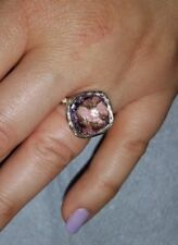 14 KT Yellow Gold ring with Amethyst and diamonds