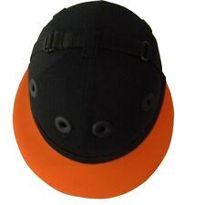COTTON TWILL POLO HELMET, Horse Ridding Helmet, Safety Helmet Black/Orange