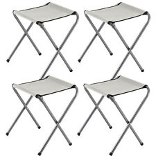 4 x PORTABLE STOOLS CHAIRS OUTDOOR DINING CAMPING GARDEN PICNIC FISHING BBQ