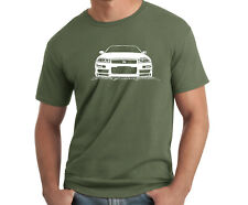 Mens Military Green cotton summer t-shirts, Nissan Skyline GTR front grill Nismo