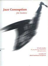 Jim Snidero jazz conception Alt-Sax Alto saxos notas con Play-Along CD