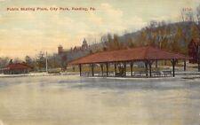 Reading Pennsylvania~City Park Public Ice Skating Rink~Shelter House~1910 PC