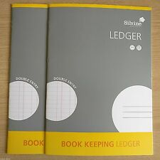NEW - 2 x A4 BOOK KEEPING LEDGER - Accounts Office Home Cash Books x 2